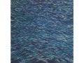 Dunkler Atlantik , Acryl  100 cm x 100 cm , 2020
