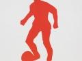 Roter Fußballspieler, 40 x 50, 2001