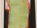 Grüner Dampfer, Holzschnitt, 40 cm x 140 cm , 2016