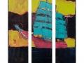 Segelschiff 1, Triptychon, 2014, Maße: 140 cm x 120 cm