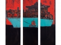 Containerschiff 1,  Triptychon, 2014,  Maße: 140 cm x 120 cm