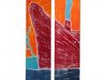 Roter Bug, Zweiteiler, 180 x 50, 2014