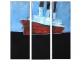 Fahrt, Triptychon, 140 x 120,  2016