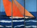 Dreiteiler Segelboot, 140 x 120, 2015