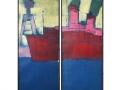 Dampfer im Hafen, 140 x 80, Zweiteiler, 2015