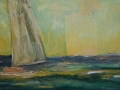 Segler und Schiff, 60 x 100, 2009