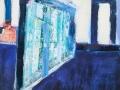 Hafenkräne und Schiff, 130 x 90, 2009