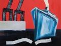 Dampfer und Hafenkräne, 100 x 100, 2007, Öl/Ln,