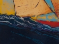 Segelboote, 100 x 40, 2012