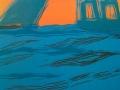 Segelboot und Hafen, 56 x 44, 2007