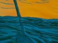 Segelboot auf See, 56 x 44, 2007,