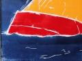 Segelboot und Elbphilharmonie, 2013